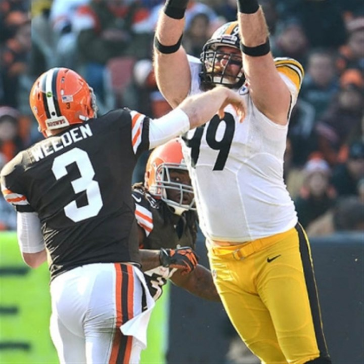 Brett Keisel Brett Keisel pressures Browns quarterback Brian Hoyer in a game last season.