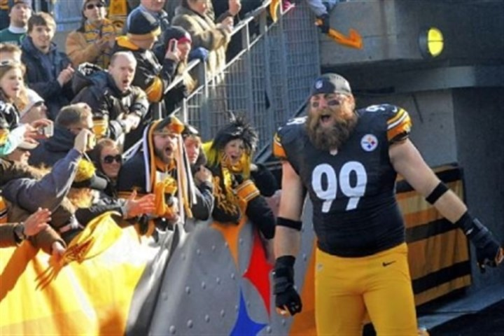 brett keisel file photo The Steelers' Brett Keisel takes the field for the Steelers-Bengals match-up at Heinz Field on Dec. 23.