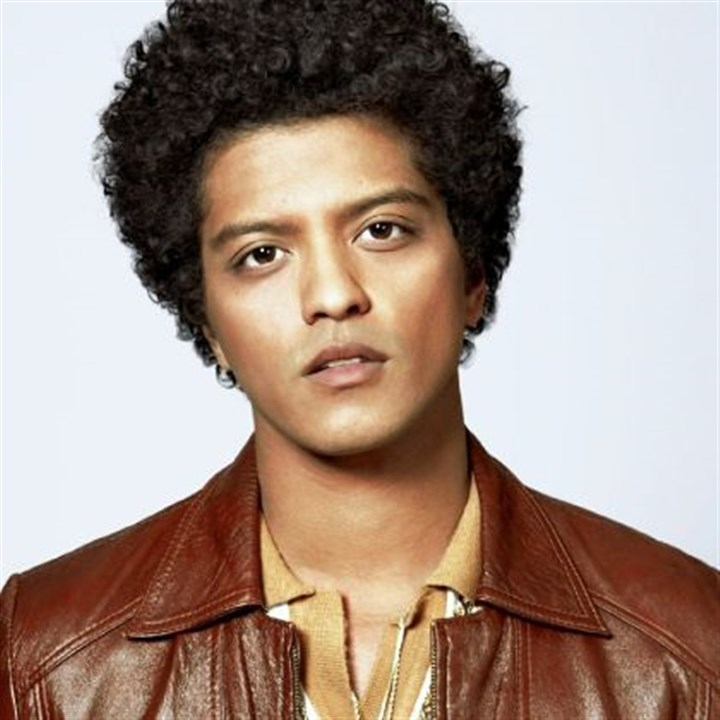 Bruno Mars Singer Bruno Mars will perform on Tuesday at Consol Energy Center.