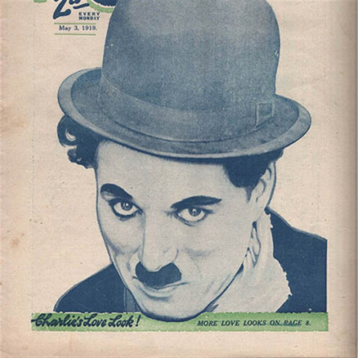Chaplin novelty items Charlie Chaplin's iconic image was used to sell millions of magazines, toys, song sheets and every imaginable kind of novelty item in the first half of the 20th century.