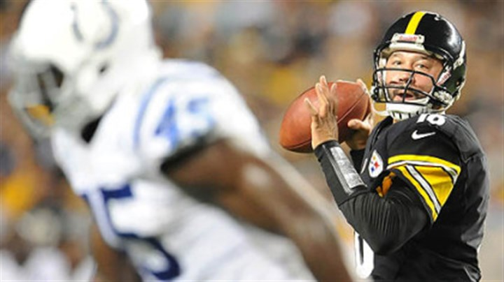 Charlie Batch Steelers quarterback Charlie Batch drops back to pass against the Colts.