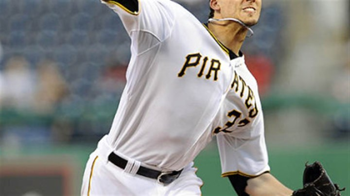 Charlie Morton Pirates pitcher Charlie Morton throws in Wednesday's game at PNC Park.