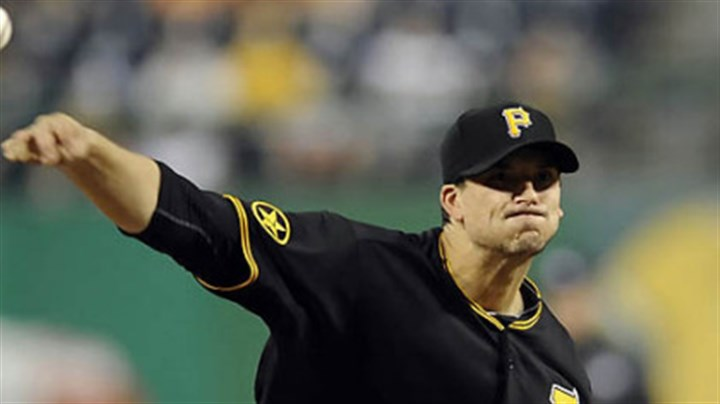 Charlie Morton Pirates pitcher Charlie Morton is 4-1 this season.
