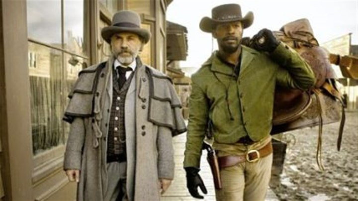"Christoph Waltz and Jamie Foxx Christoph Waltz and Jamie Foxx in ""Django Unchained."""