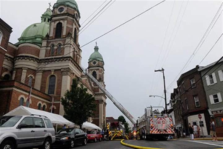 church in Polish Hill companies respond to a two-alarm fire at Immaculate Heart of Mary church in Polish Hill.