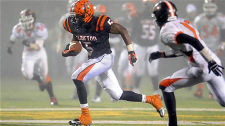 Clairton's Terrish Webb Clairton's Terrish Webb carries for a touchdown against Port Allegany in the PIAA semifinal Friday night.
