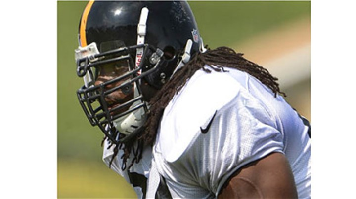 colon Steelers guard Willie Colon during workouts.