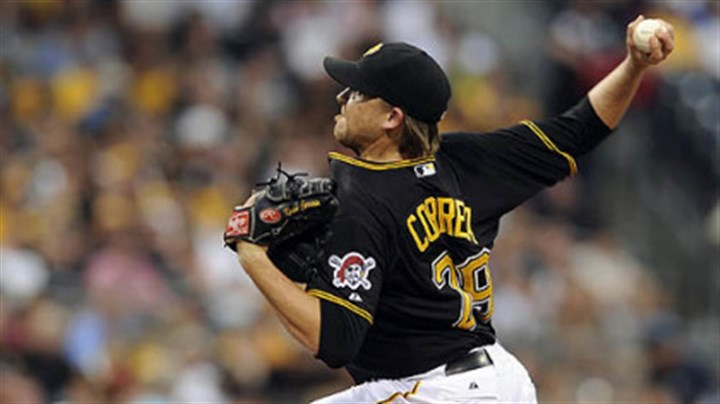 correia Pirates' Kevin Correia pitches against the Dodgers Tuesday night at PNC Park.