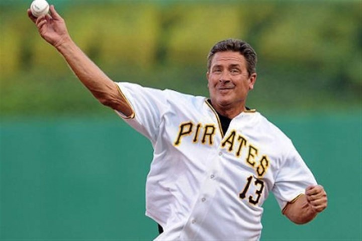 Dan Marino Former Pitt and NFL star Dan Marino throws out the first pitch before the start of the Pirates game against the Brewers Thursday night.