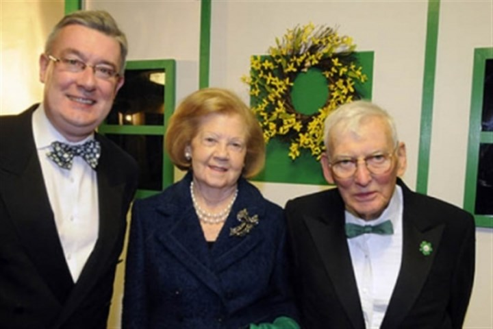 Dan Rooney Worldwide Ireland Fund CEO Kieran McLoughlin with Patricia and Dan Rooney at the American Ireland Fund dinner at Heinz Field earlier this month.
