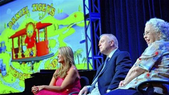 "Daniel Tiger's Neighborhood ""Daniel Tiger's Neighborhood"" executive producers Angela Santomero and Kevin Morrison were joined by Joanne Rogers, widow of Fred Rogers, to discuss the new series that debuts Sept. 3 on PBS"