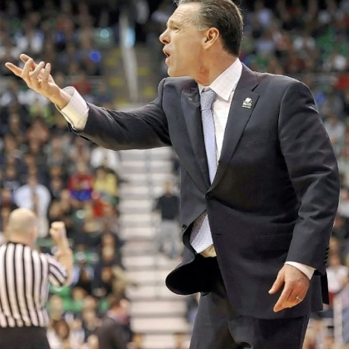 Dixon Pitt coach Jamie Dixon questions a call in the second half of his team's loss to Wichita State Thursday at EnergySolutions Arena in Salt Lake City.