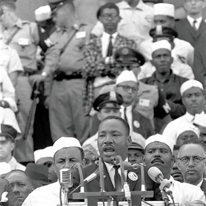 "Dr. Martin Luther King Jr. Martin Luther King Jr. giving his ""I Have a Dream"" speech in 1963."