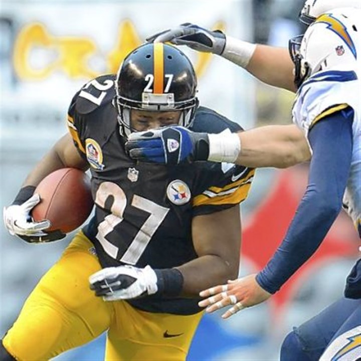 DwyerChargers.jpg Jonathan Dwyer and the Steelers took a shot to the face from the Chargers Sunday at Heinz Field.