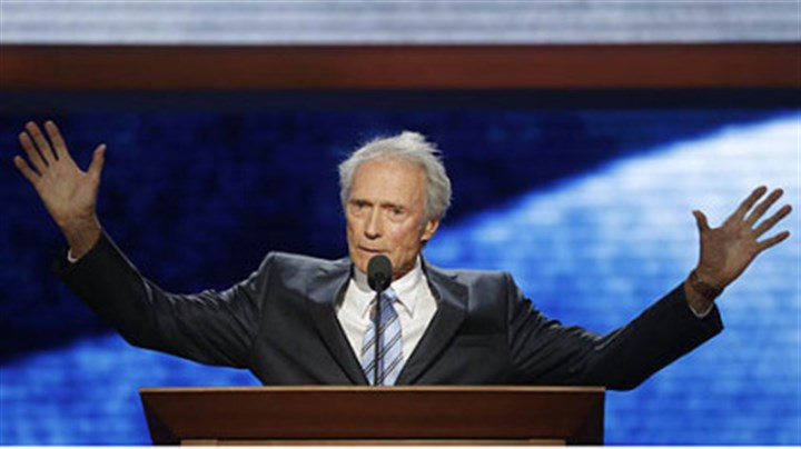 Eastwood Clint Eastwood, Hollywood actor and director, talks to an empty chair representing President Barack Obama during his remarks Thursday night at the convention.