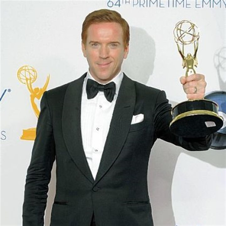 "Emmys: Best actor in a drama Damian Lewis won the Emmy for lead actor in a drama for his work in ""Homeland."""
