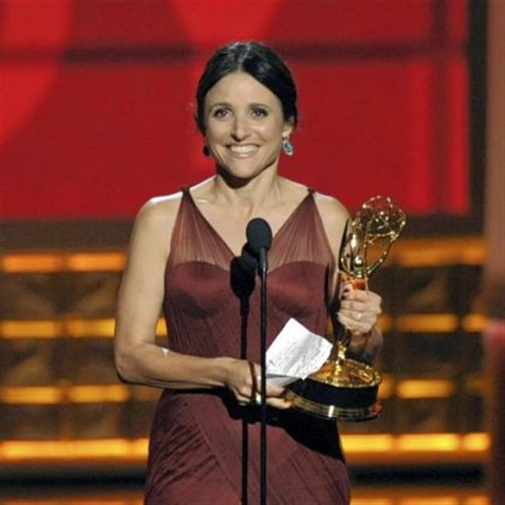 "Emmys: Best actress in a comedy Julia Louis-Dreyfus -- Best lead actress in a comedy series for ""Veep."""