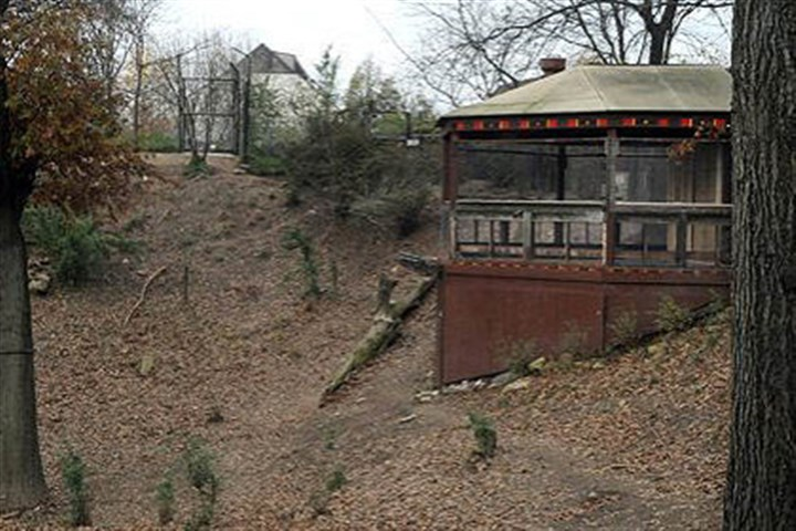 exhibit long shot The site of the now-closed wild dogs exhibit at the Pittsburgh Zoo.