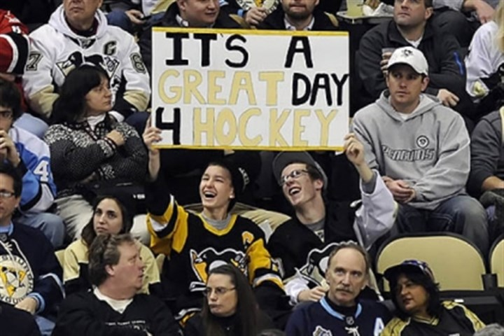 Fans cheer Fans cheer on the Penguins during the first period Wednesday night at Consol Energy Center.