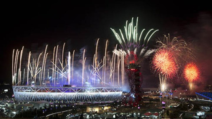 Fireworks Fireworks explode over the Olympic Stadium at the closing ceremony of the 2012 Summer Olympics in London.