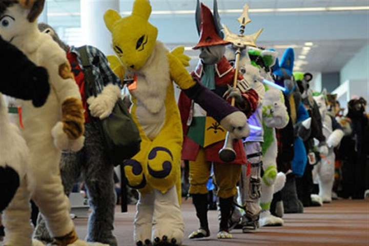 Furries parade More than 1,000 people turned out in fur suits to participate in a parade at the David L. Lawrence Convention Center, Downtown.