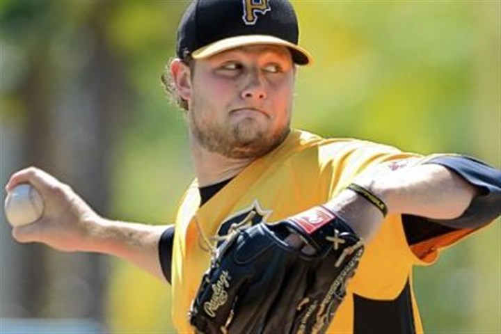 GerritCole Pitcher Gerrit Cole during spring training against the Orioles in Sarasota, Fla.
