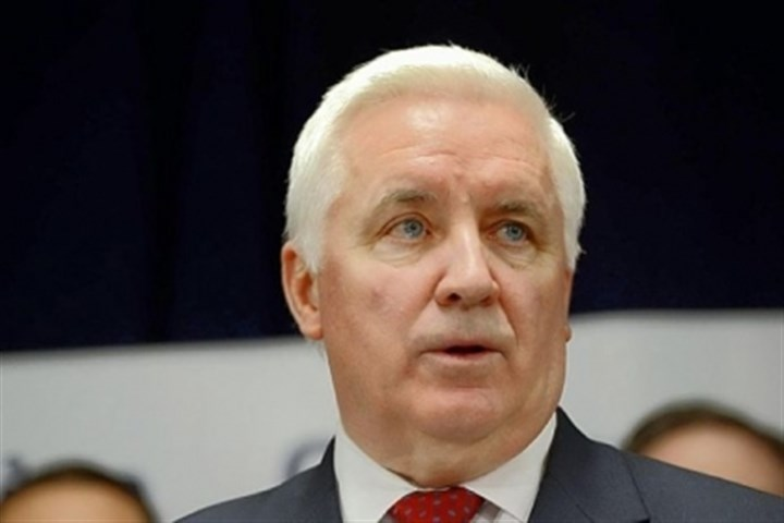 Governor Tom Corbett Governor Tom Corbett, pictured at a press conference earlier this year, has emphasized Pennsylvania's location, energy costs and workforce as he attemps to win foreign investment during a trip to South America.