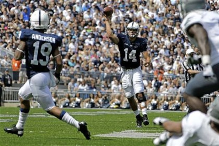 hackenberg Penn State quarterback Christian Hackenberg targets receiver Richy Anderson in the second quarter Saturday against Eastern Michigan.