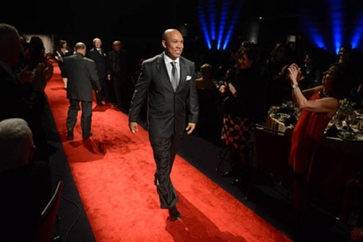 Hines Ward Former Steeler wide receiver Hines Ward walks the red carpet.