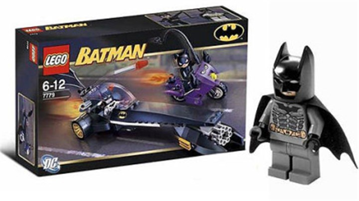 "Holy Lodestone Batman! At ToyWiz.com, the info for this Lego Batman Set #7779 Dragster Catwoman Pursuit says: ""This is a Very Small Set! Damaged Package, Mint Contents!"" It's being sold for $239.99. A loose Lego Batman like this one, sold apart from an out-of-date Lego set, can go for $40."
