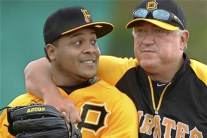 hurdle Pirates manager Clint Hurdle sneaks up on infielder Anderson Hernandez at drills Feb. 14 at Pirate City, in Bradenton, Fla. Hurdle, entering the final year of his contract, is expected to receive an extension through 2014 with a club option for 2015.