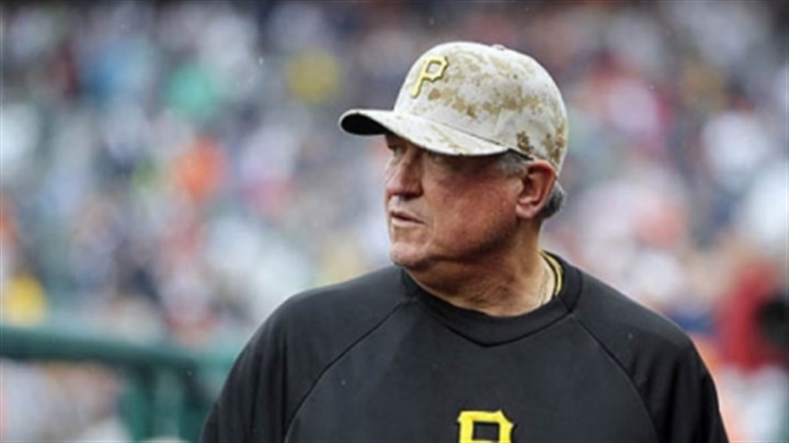 hurdle Pittsburgh Pirates manager Clint Hurdle looks back to home plate umpire Tony Randazzo after questioning the strike zone during the ninth inning.