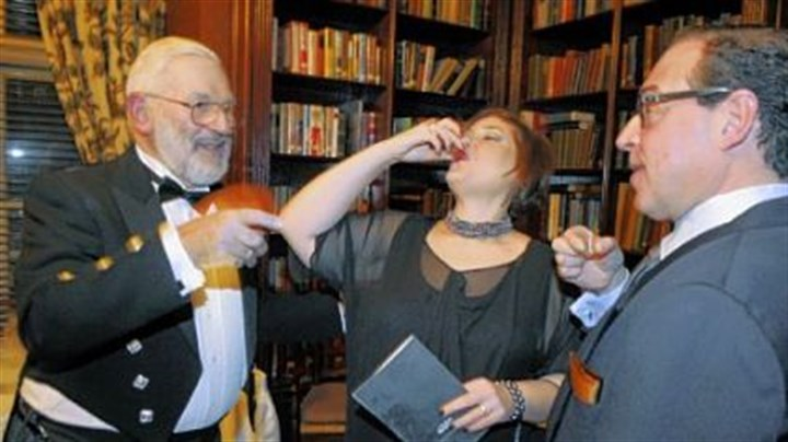 Iain Campbell, Debra and Manny Reich Iain Campbell, Debra and Manny Reich doing a single malt whiskey tasting.