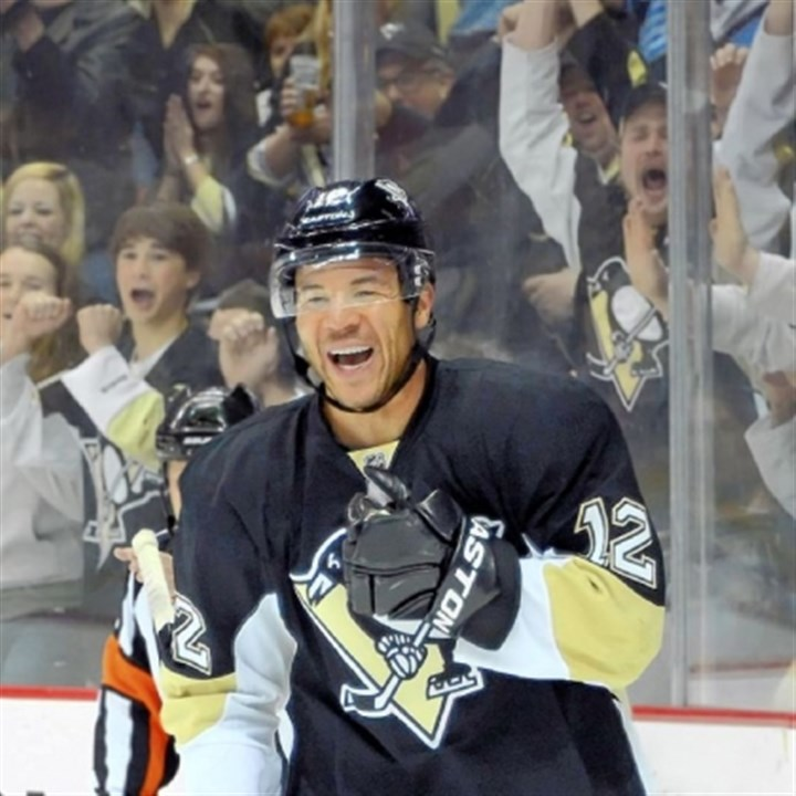 iginla The NHL trade deadline is today, but the Penguins already made their biggest move by trading for Jarome Iginla -- who scored his first goal as a Penguin Tuesday night.
