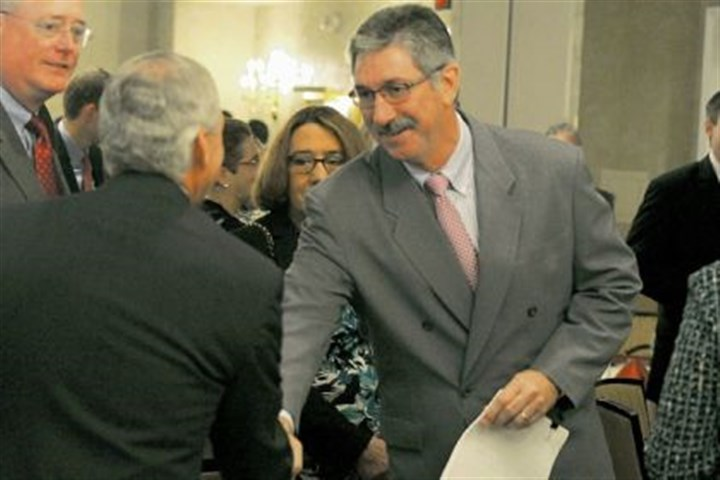 Incoming U.S. Steel CEO Mario Longhi Incoming U.S. Steel CEO Mario Longhi before his speech Thursday for the Pittsburgh Technology Council. Mr. Longhi will take over on Sept. 1.