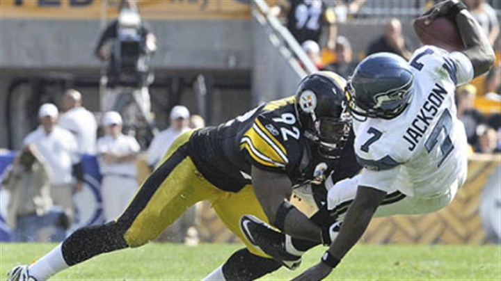 James Harrison James Harrison sacks Seattle quarterback Tarvaris Jackson during a game last season at Heinz Field.
