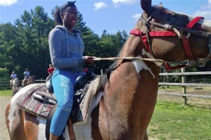 Janel Jones Janel Jones and other members of the Student Conservation Association's Hazelwood work crew rode horses and took part in other activities during their trip to the Allegheny National Forest.