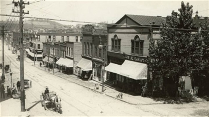 Jeannette 1 Circa 1900s view of Clay Avenue, the downtown Jeannette business district.