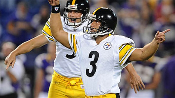 Jeff Jeff Reed celebrates after kicking game winning field goal.