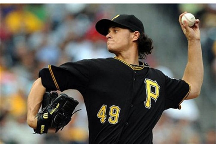 Jeff Locke The Pirates' Jeff Locke pitches against the Cardinals in the first inning Wednesday night at PNC Park.
