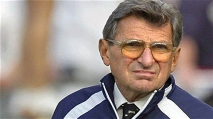 Joe Paterno Former Penn State football coach Joe Paterno during a 2005 game. Paterno died in January of 2012.