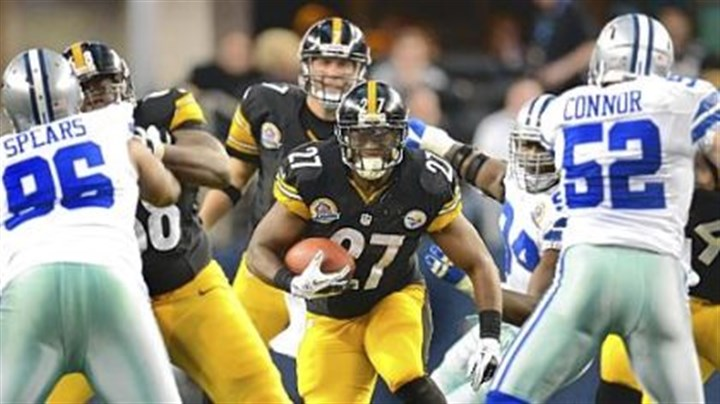 Jonathan Dwyer Steelers running back Jonathan Dwyer picks up four yards against the Cowboys.