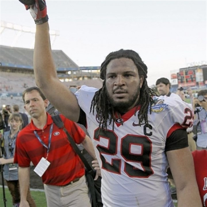 jones1 The Steelers hope former Georgia linebacker and first-round pick Jarvis Jones can help fill the void at outside linebacker.
