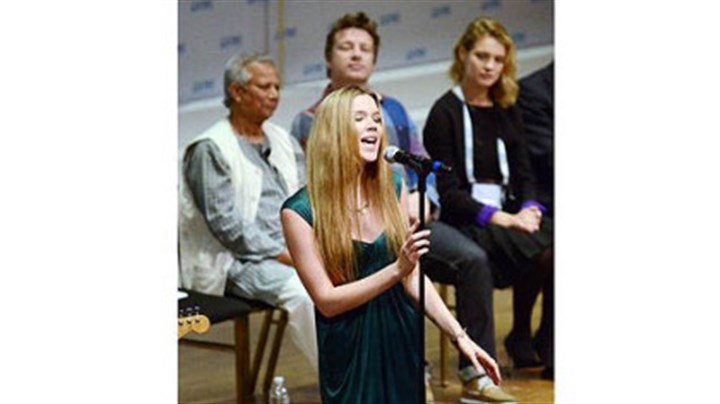 joss stone Singer Joss Stone performs during the opening ceremony for the One Young World Summit at Heinz Hall on Thursday.