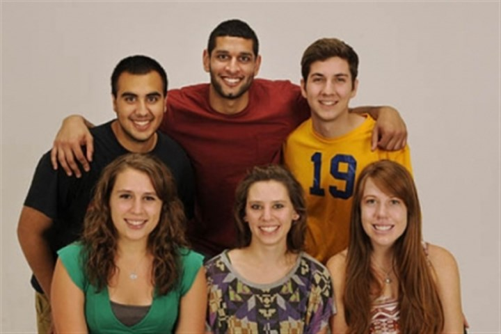 Keep It Real The University of Pittsburgh's Keep It Real team: Front row, from left, Samantha Monks, Maddie Brown, Rachel Dowe. Back row, from left: Brett Orren, Atif Mustafa, Matt Rozycki.