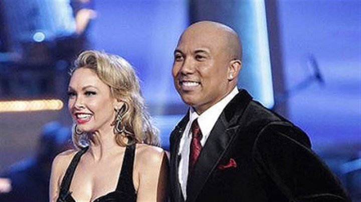 "Kym Johnson, Hines Ward Kym Johnson and Hines Ward appear Monday night on ABC's ""Dancing With the Stars."""
