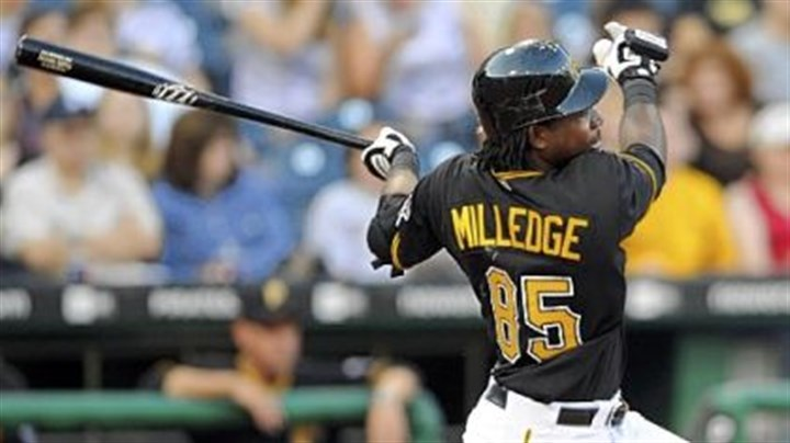 Lastings Milledge Pirates outfielder Lastings Miledge gets his first hit and RBI with the team in the third inning last night at PNC Park.
