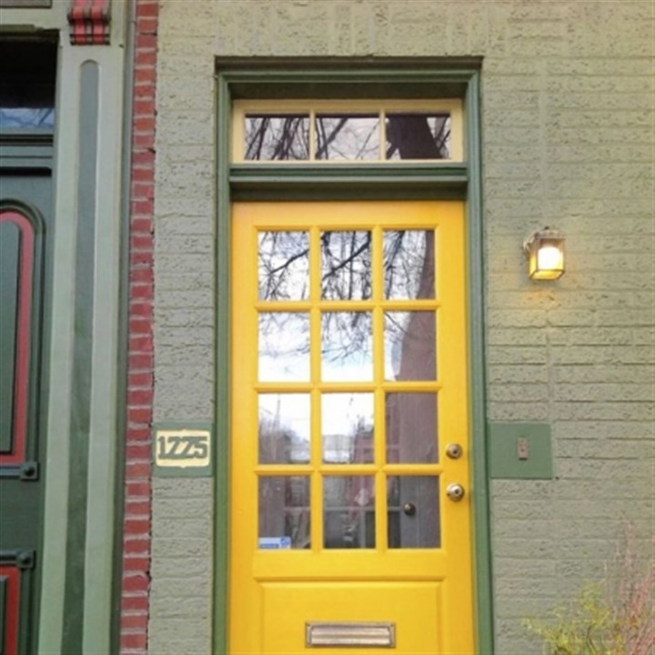 Lemon yellow door Lemon yellow door.
