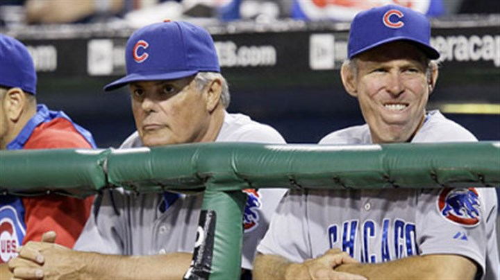 Lou Piniella and Alan Trammell Cubs manager Lou Piniella, left, and bench coach Alan Trammell watch the final out in the ninth inning of Chicago's 3-0 loss.