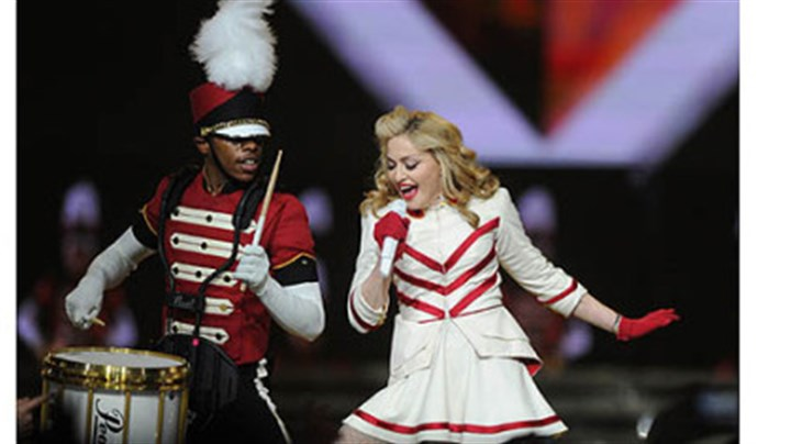 "Madonna Madonna performs ""Give Me All Your Lovin'"" during her concert Tuesday at the Consol Energy Center."